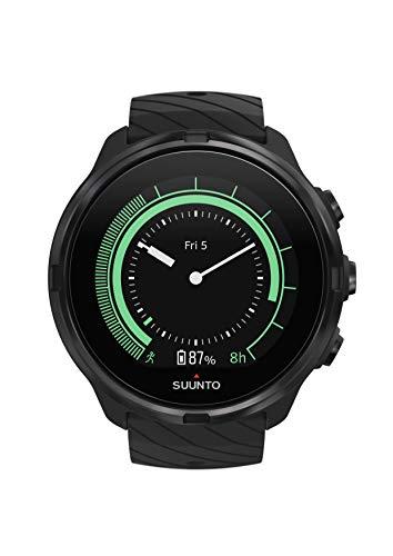 Suunto 9 GPS-Sportuhr mit langer Batterielaufzeit und Herzfrequenzmessung am Handgelenk, Schwarz (All Black), SS050257000