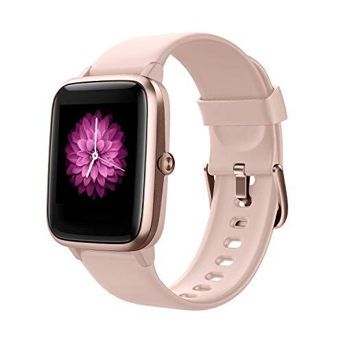 Smart Watch Fitness Tracker Fitness Armband mit herzfrequenz,Smart Watch IP68Wasserdicht Fitness Uhr,Voller Touchscreen mit Musiksteuerfunktion Schlafmonitor Uhren für IOS Android Damen Herren Kinder