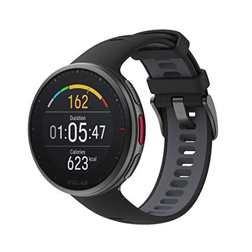 Polar Vantage V2 – Premium Multisportuhr GPS Smartwatch – Pulsmessung am Handgelenk für Laufen, Schwimmen, Radfahren – Musiksteuerung, Wettervorhersage, Smart Notifications, schwarz, M-L