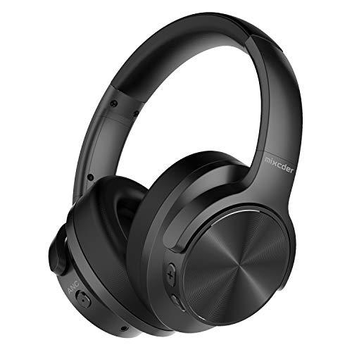 Mixcder E9 Drahtloser Kopfhörer mit Aktiver Geräuschunterdrückung Bluetooth 5.0 Active Noise Cancelling Headphones, Schnellladen, Komfortable Protein-Ohrpolsters, 35 Stunden Spielzeit, Faltbare