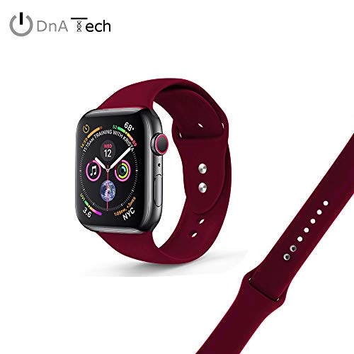 DnA Tech® Sport Armband for iWatch | Kompatibel mit Apple Watch Series 4/3/2/1 | Ersatzarmband aus geschmeidigem Silikon | 38mm/40mm & 42mm/44mm
