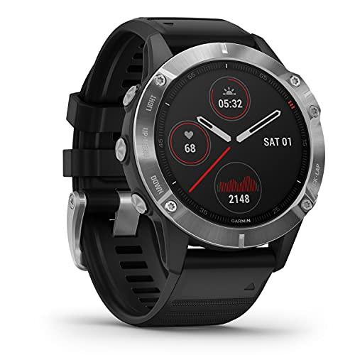 Garmin fenix 6 - GPS-Multisport-Smartwatch mit Sport-Apps, 1,3' Display und Herzfrequenzmessung am Handgelenk. Kontaktlos Bezahlen mit Garmin Pay. Wasserdicht bis 10 ATM, bis zu 14 Tage Akkulaufzeit