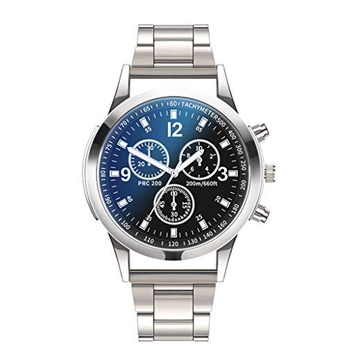 Celucke Quarz Uhr Herren Armbanduhr mit Edelstahl Metallarmband, Männer Uhren Business Herrenuhr Klassisch Quarzuhr Sportuhr Elegant Analoguhr