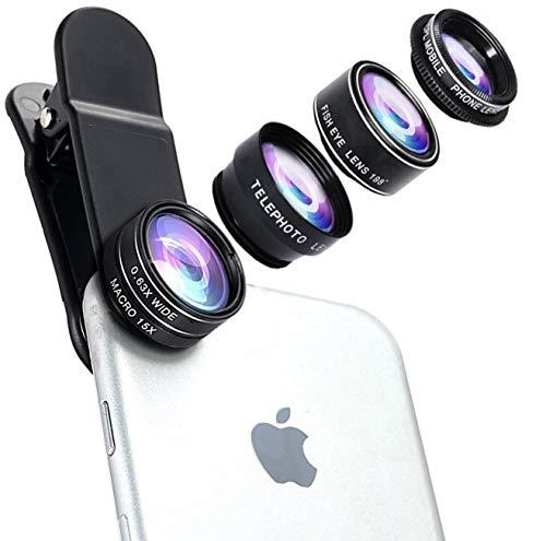 Wolffilms 5-in-1 Premium Smartphone Objektiv Handy Lens Aufsatzobjektive Wechselobjektive Zubehör