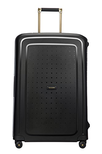 SAMSONITE S'Cure DLX Spinner, 4.5 KG Koffer, 75 cm, 102 L, Black/Gold Deluscious