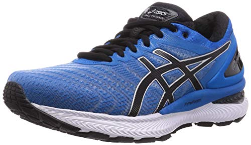 ASICS Mens Gel-Nimbus 22 Running Shoe, Directoire Blue/Black,45 EU