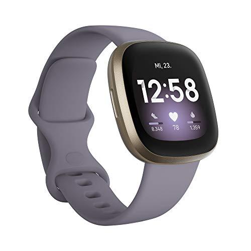 Fitbit Versa 3 Amazon Exclusive - Gesundheits- & Fitness-Smartwatch mit GPS, kontinuierlicher Herzfrequenzmessung, Sprachassistent und bis zu 6+ Tage Akku