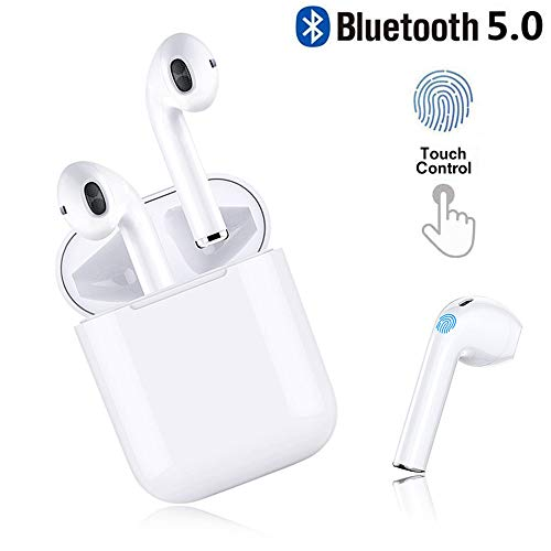 CBBH Bluetooth Kopfhörer, in Ear Bluetooth 5.0 Headset Stereo-Minikopfhörer Sport Kabellose Kopfhörer mit Portable Mini Ladekästchen und Integriertem Mikrofon für Apple Airpod Android iPhone
