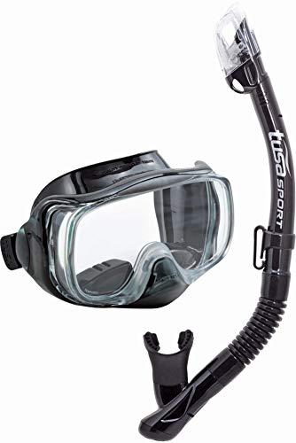 TUSA Imprex 3D Schnorchel-Set Maske trocken schnorchel Tasche - silikon schwarz/schwarz