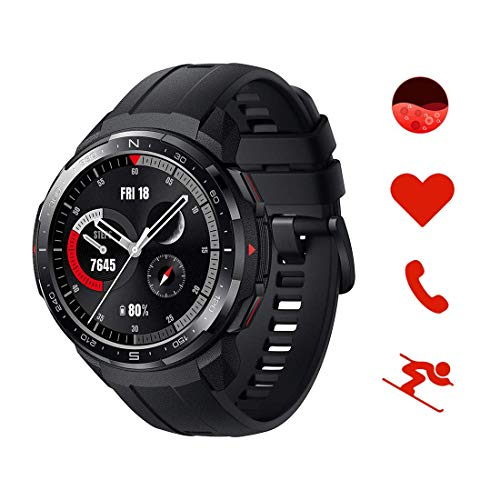 HONOR Watch GS Pro Smartwatch mit SpO2 und Herzfrequenz Fitness Tracker Uhr, 25 Tage Akkulaufzeit 1.39'' AMOLED 5ATM Wasserdicht GPS Umgebungstemperaturprüfung, Sportuhr Herren,Nero