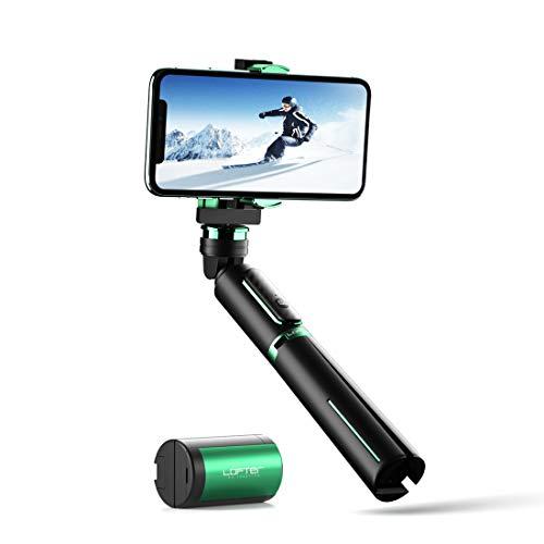 LOFTer Gimbal Smartphone Stabilisator Single Achsen, 3-in-1 Bluetooth Handy Mobile Selfie Stick Stativ stabilizer mit Fernbedienung für GoPro und iPhone 11/12 pro max/x/xs/xr, Samsung