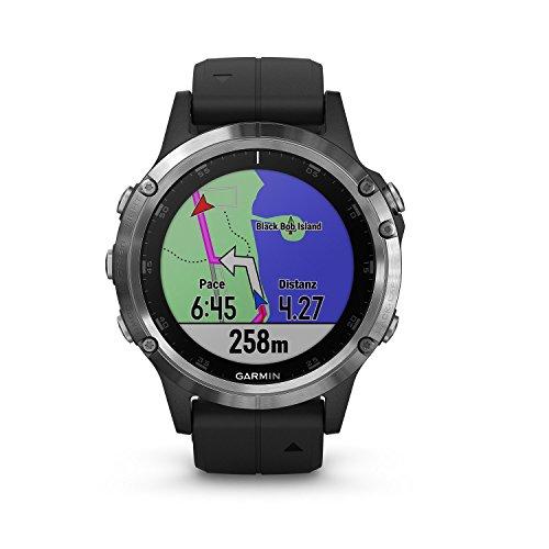 Garmin fenix 5 Plus Schwarz Multisport-Smartwatch – Europakarte, Musikplayer, kontaktloses Bezahlen (Generalüberholt)