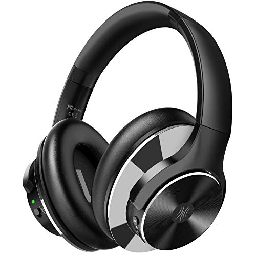 OneOdio Active Noise Cancelling Kopfhörer (ANC), 40 Stunden Kabellos Bluetooth Over Ear Kopfhörer, Tiefer Bass CVC 8.0 Mikrofon Schnellladung Protein-Ohrpolster faltbar für Reise Büro TV Handy PC