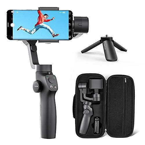 VANTOP Nimbal M3 Gimbal Smartphone, 3-Achsen Handy Gimbal für iPhone und Android, Smartphonestabilisator mit Hitchcock-Effekt, Inception-Modus, Smart Tracking, Sportmodus, Zeitraffer für Vlogger