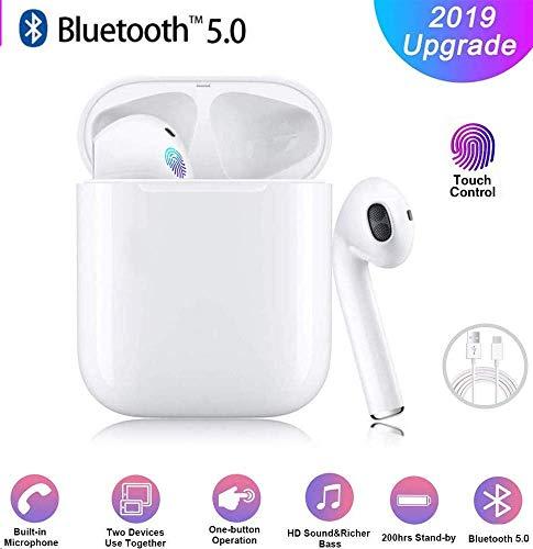 Bluetooth-Kopfhörer, Wireless 5.0 Bluetooth IPX5 wasserdichte Ohrhörer 3D-Surround-Sound-Kopfhörer Sportkopfhörer Integriertes Mikrofon In-Ear-Kopfhörer für Apple Airpods IOS Android