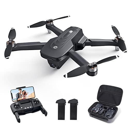Holy Stone HS175D Faltbar GPS Drohne mit 4K Kamera FHD,RC Quadrocopter mit 46 Min. Lange Flugzeit, Follow-Me, Bürstenlos Motor,Tap-Fly,Point of Interest Höhenhaltung Faltdrohne für Anfänger Erwachsene