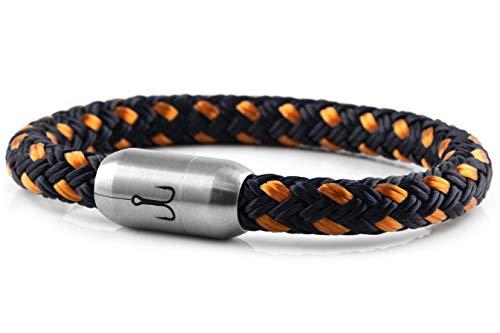 Fischers Fritze® Segeltau Armband MAKRELE 2.0' Marineblau Orange, 21.0