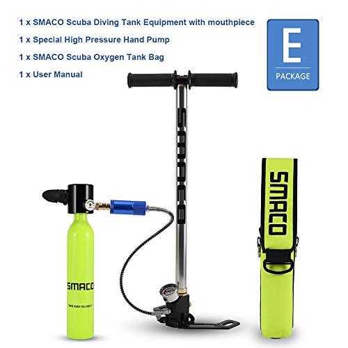 SMACO Scuba Sauerstoffflasche Tauchen, Diving Tank Ausrüstung, tragbarer 0,5-l-Mini-Sauerstofftank für Tauchgänge
