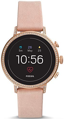 Fossil Damen Digital Smart Watch Armbanduhr mit Leder Armband FTW6015