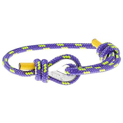 Wind Passion Lila Geprüfte Qualität Maritim Nautic Seil Herren Armband