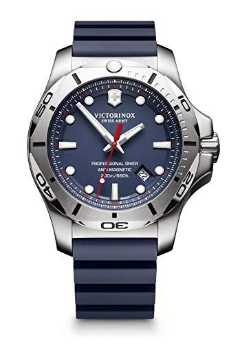 Victorinox Men's I.N.O.X. Professional Diver - Swiss Made Analog Quarz Edelstahl/Gummi Uhr 241734