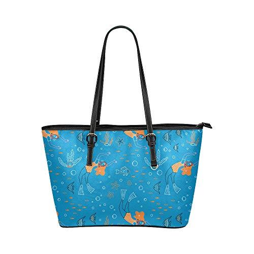 N\A Damen Sommer Handtaschen Mode Kreative Süße Tauchausrüstung Leder Hand Totes Tasche Kausale Handtaschen Reißverschluss Schulter Organizer Für Damen Mädchen Damen Handtaschen Sommer