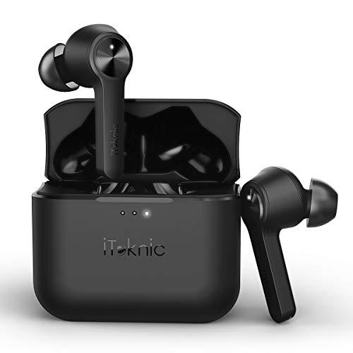 Bluetooth Kopfhörer Kabellos In-Ear Ohrhörer, iTeknic True-Wireless CVC Noise Cancelling Earbuds Headset Touch-Control Bluetooth 5.0 mit Mikrofon und Ladekästchen für Android IOS Smartphone