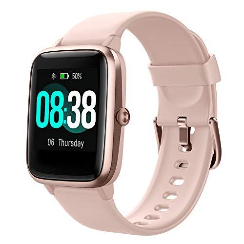 YONMIG Smartwatch, Fitness Armband Tracker Voller Touch Screen Uhr Wasserdicht IP68 Armbanduhr Smart Watch mit Schrittzähler Pulsmesser Stoppuhr Sportuhr Bluetooth für iOS Android Damen Herren