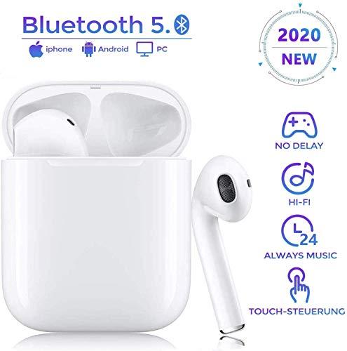 Bluetooth Kopfhörer, In Ear Kabellos Kopfhörer TWS Bluetooth 5.0 Headset Noise Cancelling Ohrhörer mit Mikrofon und Tragbare Ladehülle, kompatibel mit Apple/Airpods/Android/AirPods Pro/iPhone/Samsung