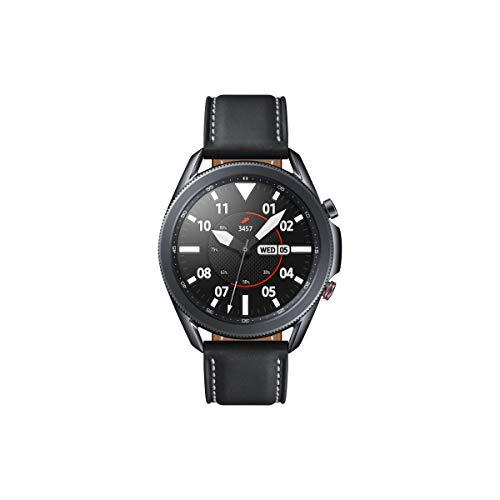 Samsung Galaxy Watch3, runde Bluetooth Smartwatch für Android, drehbare Lünette, LTE, Fitnessuhr, Fitness-Tracker, großes Display, 45 mm, schwarz