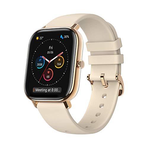 Amazfit Smartwatch GTS Farbdisplay Sportuhr Fitness Armbanduhr 5 ATM wasserdicht Stoppuhr mit GPS, Schrittzähler, Schlafmonitor, 12 Sportmodi für Damen Herren
