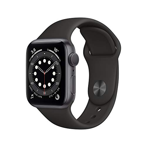 Apple Watch Series 6 (GPS, 40 mm) Aluminiumgehäuse Space Grau, Sportarmband Schwarz