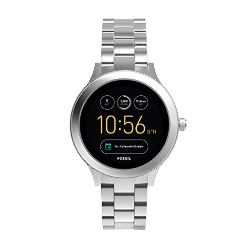 Fossil Damen Smartwatch Q Venture 3. Generation - Edelstahl, komplett silber