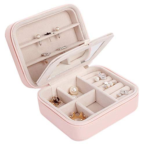 guoqunshop Aufbewahrungsbehälter Tragbare Mini Aufbewahrungsbox Armband Ring Halskette Ohrringe Schmuckschatulle Reiseutensilien Schmucketui