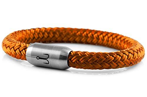 Fischers Fritze Armband Segeltau Makrele Orange - Handgemacht im Geschenkkarton I Maritim & Wasserfest, 21.0