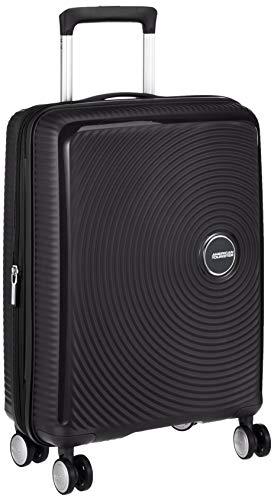 American Tourister Soundbox - Spinner S Erweiterbar Handgepäck, 55 cm, 41 L, Schwarz (Bass Black)