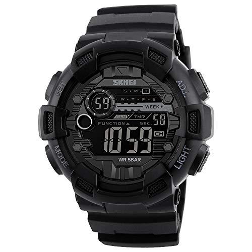 SKMEI Herrenuhr Mode Lässig Outdoor Sports Männliche Armbanduhr Dual Time Datum Woche Countdown Chrono Alarm 5ATM wasserdichte Hintergrundbeleuchtung Multifunktionale Uhren
