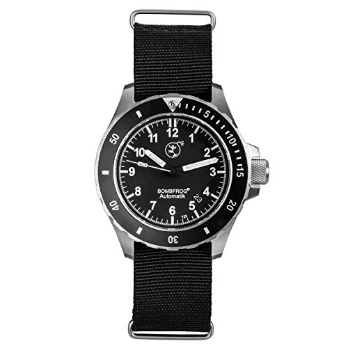 Herren Taucheruhr NATO Armband 500 m   Tritium Automatik Uhr Saphirglas BT25