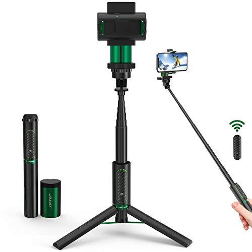 LOFTer Smartphone Gimbal Stabilisator Single Achsen, 3-in-1 Bluetooth Handy Mobile Selfie Stick Stativ stabilizer mit Fernbedienung für GoPro und iPhone 8/9/11 pro max/x/xs/xr, Samsung S9/8/7/Huawei