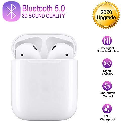 Bluetooth Kopfhörer,Bluetooth 5.0 Headset Stereo-Minikopfhörer HD-Klangqualität Sport Kabellose Kopfhörer mit Portable Mini Ladekästchen,Integriertem Mikrofon für Apple Airpod/Android/iPhone/Samsung