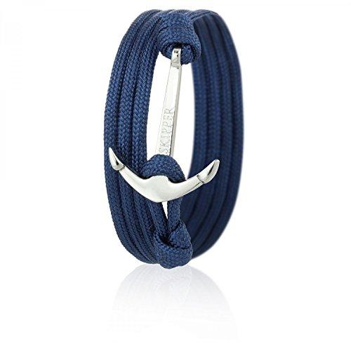 Skipper Anker-Armband mit Silbernem Edelstahl Anker für Damen und Herren - Marine 6626