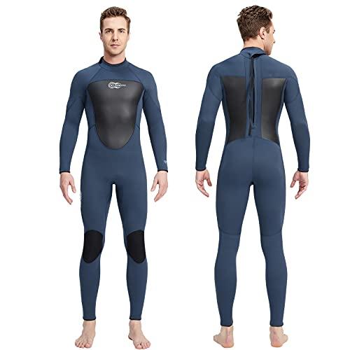Herren Neoprenanzug 3mm Neopren Full Wetsuit Back Zip AONYIYI Warm Neoprenanzug für Surfen Spearfishing Schnorcheln Kanufahren TaucheranzüGe