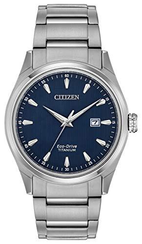 Citizen Herren Datum klassisch Solar Uhr mit Titan Armband BM7360-82L