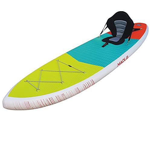 MAQUA Stand Up Paddle Board SUP Board Aufblasbar Paddel SUP Pumpe Stand Up Paddling Board 140kg Sport Set Standup Paddleboard Aufblasbar Set SUP Zubehör Inflatable Kayak 320x84x15 (Kayak)
