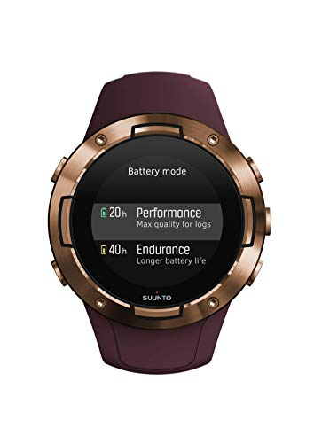 Suunto 5 Unisex-GPS-Multisportuhr für Erwachsene, Mineralglas, Edelstahl/Silikon, burgund/kupferfarben