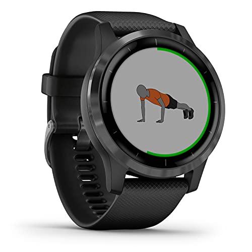 Garmin vívoactive 4 – wasserdichte GPS-Fitness-Smartwatch mit Trainingsplänen & animierten Übungen. Herzfrequenzmessung, 20 Sport-Apps, 8 Tage Akkulaufzeit, kontaktloses Bezahlen, Musikplayer