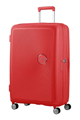 American Tourister Soundbox - Spinner L Erweiterbar Koffer, 77 cm, 110 L, Coral Red