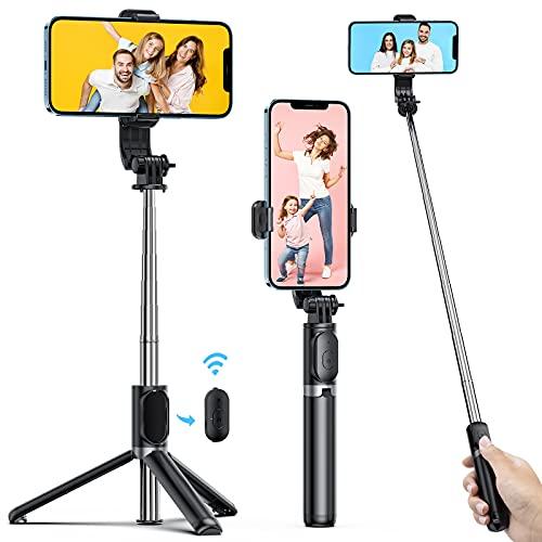 ATUMTEK Selfie Stick, Selfie Stick Bluetooth mit 1M TikTok Selfiestick für iPhone 12/11/XS/SE/8/7/Samsung/Huawei/Sony iOS und Android Selfie-Fotografie, Videoaufnahme, Videoblogs und Live Streaming