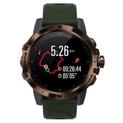 COROS VERTIX GPS-Abenteueruhr mit Herzfrequenz- und Pulsox-Monitor, 60-Stunden-GPS-Vollbatterie, 24/7-Herzfrequenzüberwachung, diamantähnlichem Saphirglas, Touchscreen, Barometer (Bergjäger)