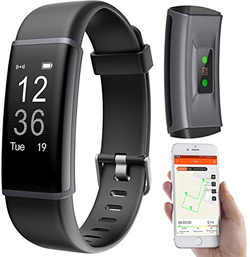 PEARL Sportuhr: Fitness-Armband, GPS-Streckenverlauf, Puls, 13 Sportarten, App, IP67 (Smart Bracelet)